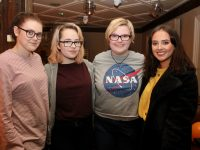 Sophie Hanley, Laura Maycock, Grainne Quirke and Shannon Quigley at the table quiz in The Ashe Hotel on Thursday night. Photo by Dermot Crean