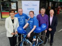 Launching the Nolan's Londis at North Circular Road Family Day and Bikathon on Monday were Mayor of Tralee Cllr Norma Foley, Vincent Lynch, Sinead O'Connor, Niall Nolan of Nolan's Garage and Con O'Connor of Pieta House. Photo by Dermot Crean