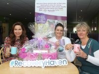 Majella Duignan of Nutrifit with Marisa Reidy and Carol Barry of Recovery Haven launching the coffee morning and information session which takes place later this month. Photo by Dermot Crean