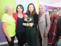 Majella Duignan (centre) of Nutrifit with Nancy Keane, Maria Maher, Saira Riaz and Tahira Siddique at the Coffee Morning in aid of Recovery Haven at Nutrifit on Tuesday morning. Photo by Dermot Crean