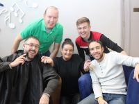 Marketing Officer with Recovery Haven Marisa Reidy surrounded by well known Radio Kerry presenters John Drummey, Jerry O'Sullivan, Brendan Fuller and Andrew Morrissey who have signed up for the Recovery Haven Movember Challenge. Photo by Dermot Crean