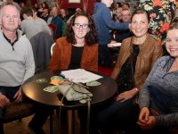 Finbarr McCann, Claire Neenan, Donna McCann and Rachel Vickers at the Tralee Rowing Club fundraising quiz at O'Donnell's in Mounthawk on Friday night. Photo by Dermot Crean