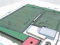An artist's impression of the proposed new sports facility in Ardfert.