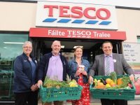 Janusz Glebocki, store manager Tesco Tralee Square and Etain Usher of Food Aid Tralee with Breda Flynn of Tesco and Martin Gill of Food Aid Tralee