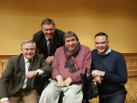 Labour Party leader Brendan Howlin with Cllrs Graham Spring and Terry O'Brien and new candidate Ben Slimm.