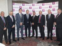 Ogie Moran ITT, AIB Tralee Branch Manager Stephen Stack, David Moran of Casey Stephenson, Barry O'Shea AIB, Ollie Mangan AIB, Kevin McCarthy of Garvey Group, Patrick McElligott of McElligott's Oakpark and Head of AIB Kerry Sean Healy at the AIB Lunchtime Economic Seminar at the Ashe Hotel on Tuesday. Photo by Dermot Crean