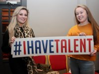 Isabella Flamini giving moral support to Shannon Hennessy who was singing 'Get Out And Stay Out' at the Britain's Got Talent auditions at The Ashe Hotel on Thursday. Photo by Dermot Crean