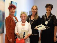 The Work of Professional Artists were exhibited at Department of Culture, Heritage, & the Gaeltacht, Government Buildings, Killarney at Culture night in Killarney, At the opening of the exhibition  were, Artists Martine Moriarty, left, Rebecca Carroll, Kerry County Council Arts Officer Kate Kennelly and Cathaoirleach Kerry County Council, Cllr Norma Foley. Culture Night coinsided with venues and public spaces across the island of Ireland who opened their doors to host a programme of free late-night entertainment, as part of an all-island celebration of arts, heritage and culture. Now in its thirteenth year. .Photo:Valerie O'Sullivan/FREE PIC