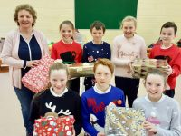 Glenderry NS pupils and teachers look forward to Christmas concert.