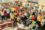 Fifth and sixth year students at Gaelcholáiste Chiarraí who took part in Stand Up Week. Photo by Dermot Crean