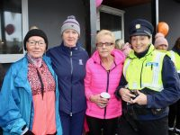 Catriona O'Sullivan, Brid Halloran, Eileen Moran and Garda Irene O'Riordan at the Grace Moran Memorial Walk at Kerins O'Rahillys Clubhouse on Sunday afternoon. Photo by Dermot Crean