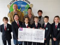 Pupils from Scoil Eoin students council presented a cheque to Marisa Reidy of Recovery Haven on Monday morning.
