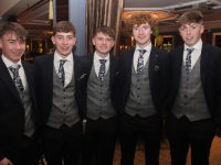Kerry minors Conor Flannery, Jack Kennelly, Cillian Falvey, Paul Walsh and Colm Moriarty  at the Kerry GAA Medal Presentation Ceremony in Ballygarry House Hotel on Saturday evening. Photo by Dermot Crean