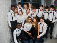 Some of the models before the Mercy Mounthawk TY Fashion Show on Thursday night. Photo by Dermot Crean