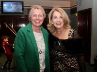 Mary Ellen O'Connor and Lucy Crowe at the Na Gaeil Race Night on Friday. Photo by Dermot Crean