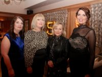 Caroline O'Connell, Anne Savage, Colette Commane and Andrea Brosnan at the O'Brennan NS 150th anniversary celebrations in Ballygarry House Hotel on Friday night. Photo by Dermot Crean