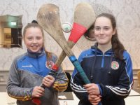 Shauna Harris and Saoirse Moloney at the launch of Tralee Parnells GAA Club's adult Camogie at The Meadowlands Hotel on Friday night. Photo by Dermot Crean