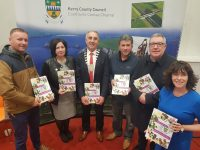 At the launch of the 2019 Community Support Fund at the Killorglin Area Services Centre on Thursday, l-r: Cllr Damian Quigg, Moira Murrell (Chief Executive), Cllr John Joe Culloty (Leas Cathaoirleach), Cllr Michael O'Shea, Cllr Bobby O'Connell, Niamh O'Sullivan (Head of Community Unit, Kerry County Council)