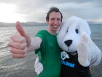 Brendan O'Connell taking part in last year's Polar Plunge.