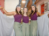 Cast members Zoe Riordan, Róisín Moriarty and Chantelle O'Sullivan from Tralee Musical Society Youth before the opening night of The Wiz in Siamsa Tire on Wednesday evening. Photo by Dermot Crean
