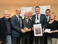 Tralee Town, Co Kerry, Tidy Towns Volunteers, Cathaoirleach Cllr Graham Spring, Gillian Wharton, Cllr Sam Locke, Jim Garvey, SuperValu, Winners of the Tidy Towns Gold Medal Award 2018, which was presented by Cllr Mike Kennelly and Dolores Farrell, SuperValu Community and Sponsorship Brand Manager, at the Listowel Arms Hotel, County Kerry. The Competition now in its 60th year had a record 883 towns and villages entered. The Awards are hosted by the Department of Rural and Community Affairs, sponsored by SuperValu and supported by Fáilte Ireland.Photo:Valerie O'Sullivan/FREE PIC