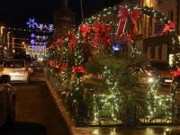 The lights at Denny Street. Photo by Dermot Crean