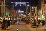 The lights on The Mall. Photo by Dermot Crean