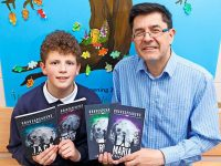 Callum Houston of Blennerville NS with 'Gravespeakers' author Anthony Garvey.