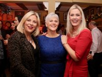 Celia O'Shea, Anne Doyle and Toireasa Ferris from Kerry College of Further Education at their Christmas party at Kirby's Brogue Inn on Thursday night. Photo by Dermot Crean