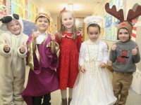 CBS Primary junior infants pupils ready to take the stage for their Christmas concert. Photo by Dermot Crean