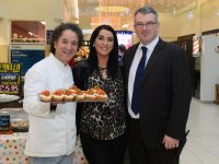 Carlos Luque of Food Fiesta, Michelle McCrohan and Derek Rusk, Centre Manager, Manor West Retail Park and Shopping Centre