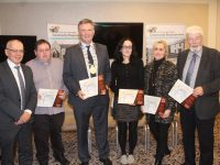 At the launch of the Mitchels Regeneration Calendar at The Rose Hotel on Monday night were,  from left; Michael Scannell, Paul Johnson, Mayor of Tralee Graham Spring, Paula O'Sullivan, Dolores McElligott and Johnnie Wall. Photo by Dermot Crean