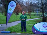 Pat Sheehy received his Parkrun Hero award recently at the Town Park.