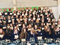 Presentation students who sat their Leaving Certificate this year, received the JCPA certificates on Thursday.
