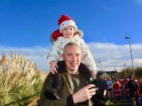 Kieran Donaghy and his daughter Lola Rose at the Santa 5k Fun Run on Sunday. Photo by Dermot Crean