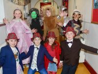 Scoil Eoin third class pupils  who were doing 'The Wizard of Oz, before going on stage on Wednesday night. Photo by Dermot Crean