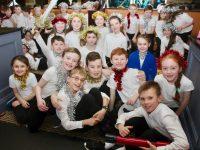 Scoil Nuachabháil pupils preparing  for their Christmas concert at Ballygarry House Hotel on Wednesday. Photo by Dermot Crean