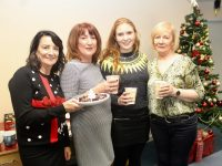 Katie Allen, Julie Daly, Emma Daly and Breda Friel at the Tralee LES Christmas Coffee Morning on Thursday. Photo by Dermot Crean