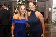 Sarah Moloney and Ciara Hill at Brendan McMahon's Retirement Party from CBS Primary School at The Ashe Hotel on Saturday night. Photo by Dermot Crean