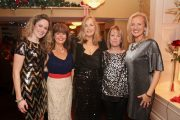 Susan Sugrue, Catherine Sugrue, Jo O'Connor, Marie Hill and Kayrena Bolger enjoying the Scoil Eoin Balloonagh Christmas party in Kirby's Brogue Inn on Friday night. Photo by Dermot Crean