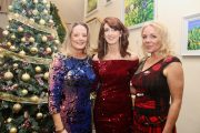 Tracy Hurley, Mairead O'Sullivan and Sandra MacMillan at the University Hospital Kerry Christmas Party Night at Ballyroe Heights Hotel on Friday night. Photo by Dermot Crean