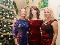 Tracy Hurley, Mairead O'Sullivan and Sandra MacMillan at the University Hospital Kerry Christmas Party Night at Ballyroe Heights Hotel on Friday night. Photo by Dermot Crean