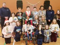 Gardaí with award winners at the ceremony held on Christmas Day at the KDYS>