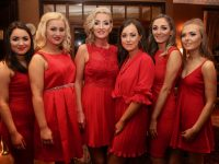 Katelyn Galvin, Kat O'Brien, Siobhan McCarthy, Zoe Mulqueen, Sophie McAllen and Ciara Curran contestants in the Ballymacelligott GAA Club 'Strictly Love Dancing' at Ballygarry House Hotel on Saturday night. Photo by Dermot Crean