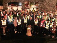 Kieran Donaghy with participants at the Garvey's Supervalu Tralee Operation Transformation Walk on Thursday night. Photo by Dermot Crean
