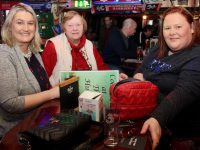 Annemarie O'Flaherty, Eileen O'Mahony and Kathy Roberts at the Tralee Dynamos Table Quiz at The Huddle Bar on Thursday night. Photo by Dermot Crean