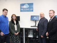 Launching The Cloud Lab at Kerry ETB Training Centre on Tuesday were; Joe O'Shea, Nora O'Callaghan, Guillaume Py and Con O'Sullivan. Photo by Dermot Crean