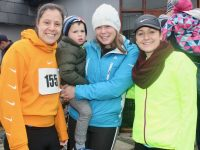 Erika Quill, Evan O'Connor and Kelly Ann Roantree and Daire Quirke at the Kerins O'Rahillys 5k/10k Run on Sunday morning. Photo by Dermot Crean
