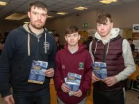 Kieran Moynihan, Liam Casey, Dylan Cremin at the Kerry ETB Training Centre Apprenticeship evening on Thursday. Photo by Padraig Foran