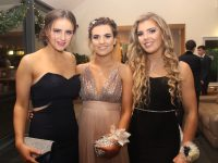 Rachel Ryan, Sorcha Ringland and Meabh McElligott at the Mercy Mounthawk Students' Debs Ball at the Ballyroe Heights Hotel on Thursday night. Photo by Dermot Crean